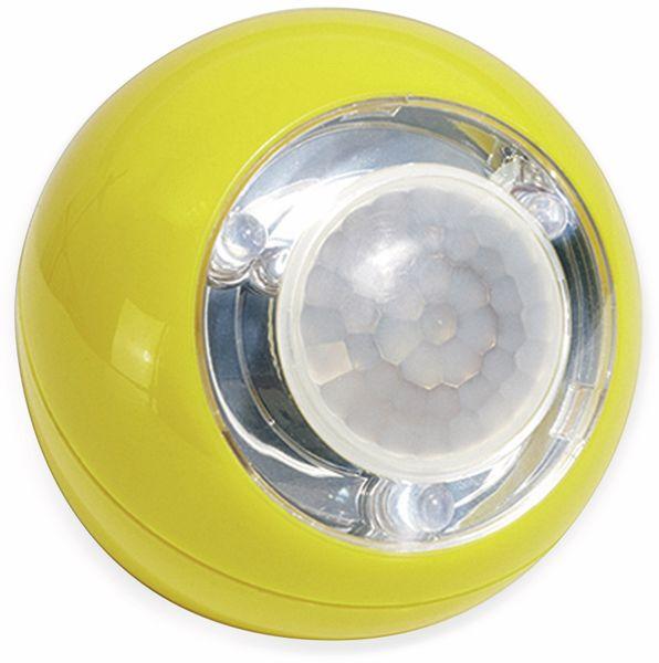 LED Lichtball LLL GEV 759 mit Bewegungsmelder, batteriebetrieb, gelb