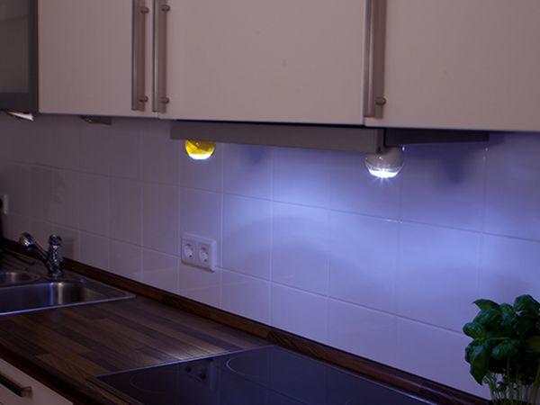 LED Lichtball LLL GEV 759 mit Bewegungsmelder, batteriebetrieb, gelb - Produktbild 5