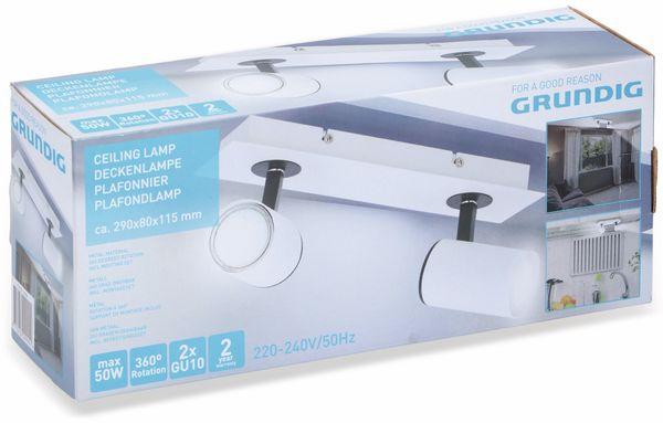 Deckenleuchte GRUNDIG, GU10, 2flammig, weiß/schwarz - Produktbild 2