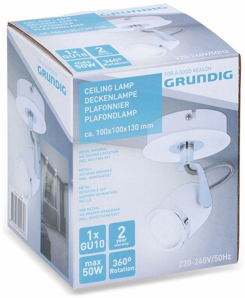 Deckenleuchte GRUNDIG, GU10, 1flammig, weiß/chrom - Produktbild 2