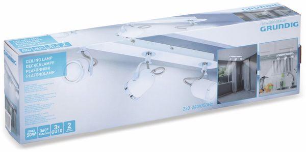 Deckenleuchte GRUNDIG, GU10, 3flammig, weiß/chrom - Produktbild 2