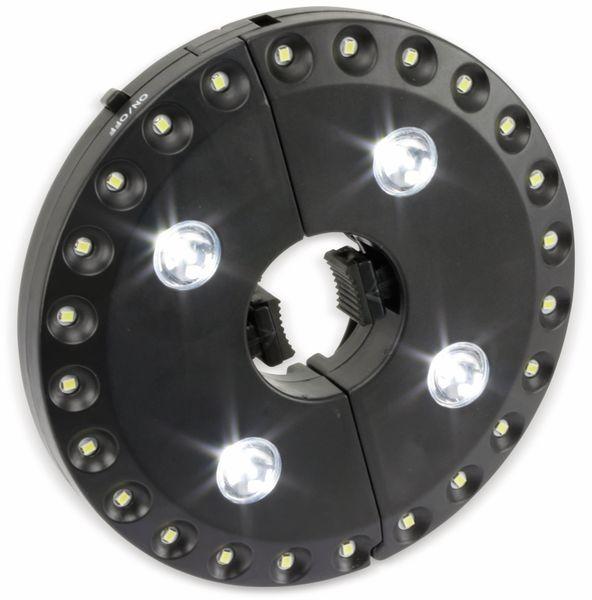 LED-Sonnenschirmbeleuchtung, WS-9812, schwarz - Produktbild 4