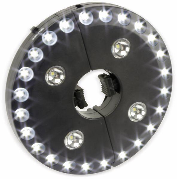 LED-Sonnenschirmbeleuchtung, WS-9812, schwarz - Produktbild 5