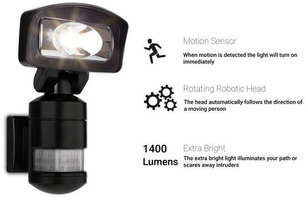 LED-Sicherheitsleuchte SMARTWARES FSL-80114, 16 W, 1400 lm, IP44 - Produktbild 10