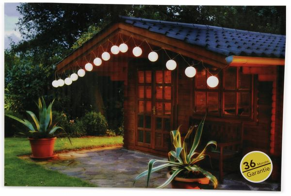 LED-Sommerlichterkette, Lampions, XXL, weiß - Produktbild 2