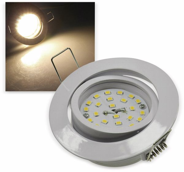 "LED-Einbauleuchte ""Flat-32"" EEK E, 5 W, 470 lm, 2900 K, weiß"