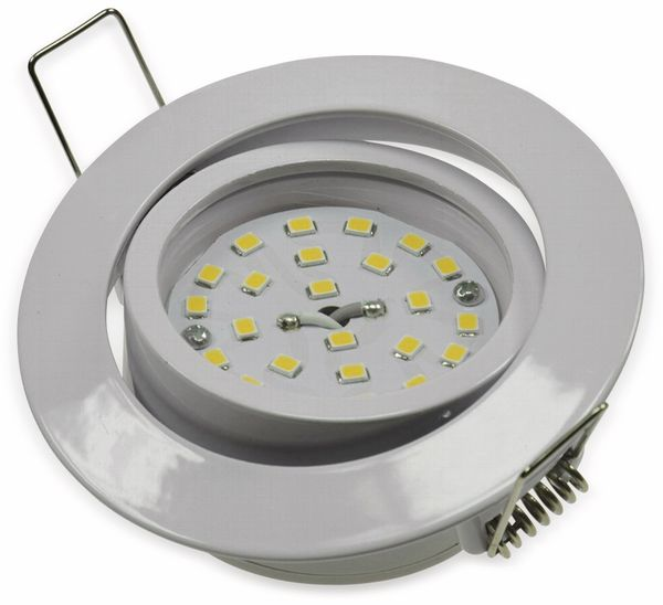"LED-Einbauleuchte ""Flat-32"" EEK E, 5 W, 470 lm, 2900 K, weiß - Produktbild 2"