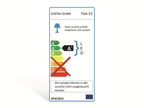 """LED-Einbauleuchte """"Flat-32"""" EEK A+, 5 W, 470 lm, 2900 K, weiß - Produktbild 4"""