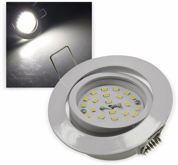 "LED-Einbauleuchte ""Flat-32"" EEK E, 5 W, 490 lm, 4000 K, weiß"