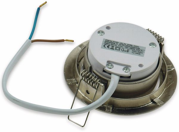 "LED-Einbauleuchte ""Flat-32"" EEK A+, 5 W, 420 lm, 2900 K, Edelstahl, dimmbar - Produktbild 3"