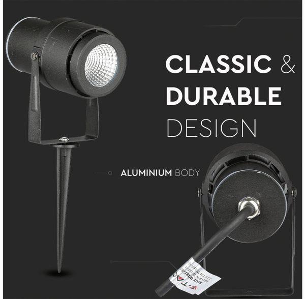 LED-Gartenleuchte V-TAC-857 (7545), EEK: A, 12 W, 720 lm, 4000 K, schwar - Produktbild 2