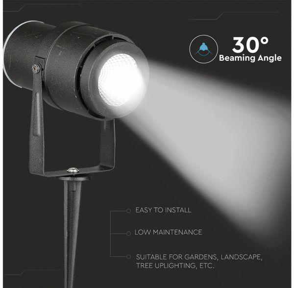 LED-Gartenleuchte V-TAC-857 (7545), EEK: A, 12 W, 720 lm, 4000 K, schwar - Produktbild 3