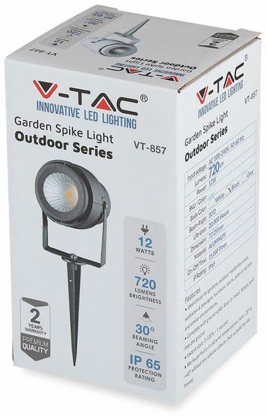 LED-Gartenleuchte V-TAC-857 (7545), EEK: A, 12 W, 720 lm, 4000 K, schwar - Produktbild 6