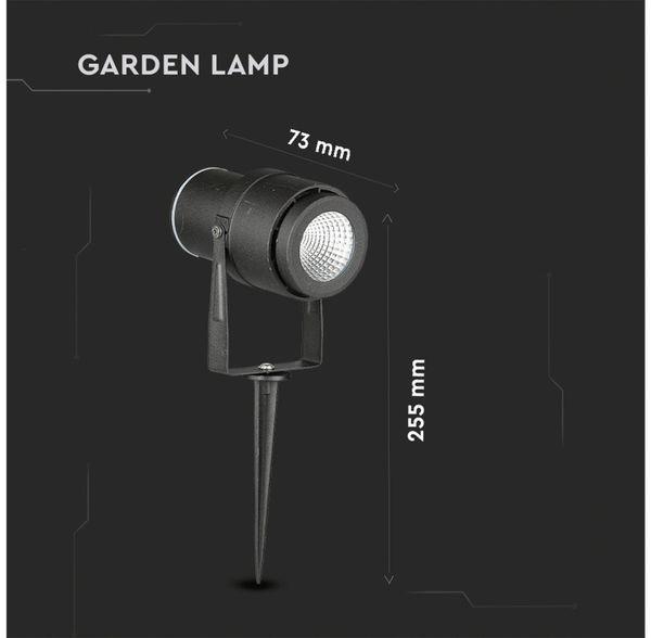 LED-Gartenleuchte V-TAC-857 (7545), EEK: A, 12 W, 720 lm, 4000 K, schwar - Produktbild 12