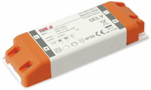 LED-Schaltnetzteil QUATPOWER YSL20W, 12 V-, 20 W