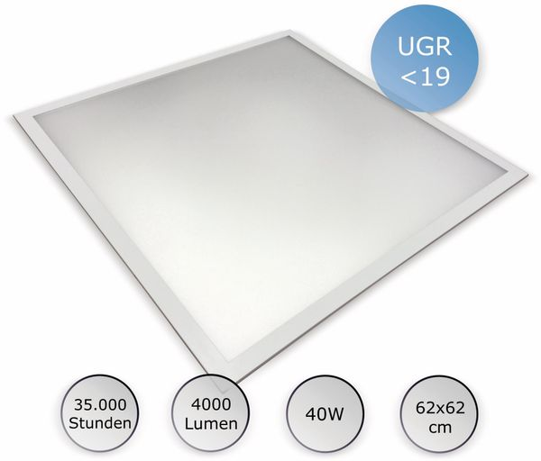 LED-Panel OPTONICA DL2732, EEK: A+, 40 W, 4000 lm, 4500K