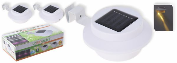 LED Solar-Zaunleuchte, weiß, 2er Set