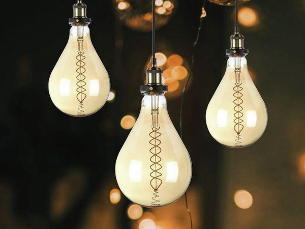LED-Deko Lampe Amber, VT-2138D, E27, EEK: A, 8 W, 500 lm, 2000 K, dimmbar - Produktbild 3