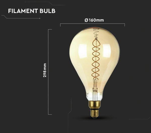 LED-Deko Lampe Amber, VT-2138D, E27, EEK: A, 8 W, 500 lm, 2000 K, dimmbar - Produktbild 5