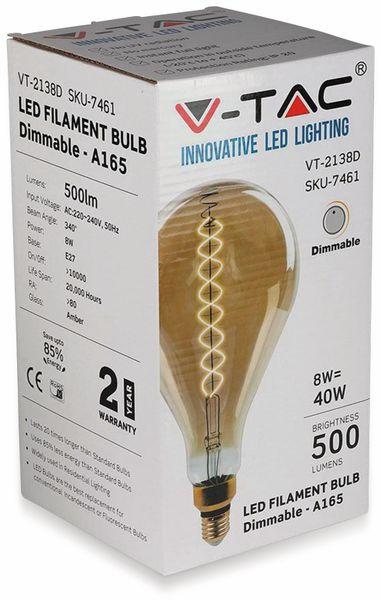LED-Deko Lampe Amber, VT-2138D, E27, EEK: A, 8 W, 500 lm, 2000 K, dimmbar - Produktbild 7