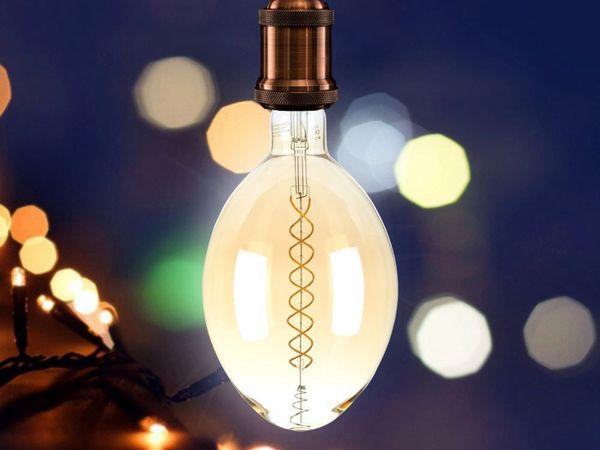 LED-Deko Lampe Amber, VT-2178D, E27, EEK: A, 8 W, 600 lm, 2000 K, dimmbar - Produktbild 2