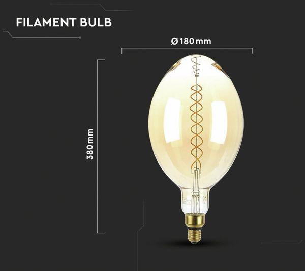 LED-Deko Lampe Amber, VT-2178D, E27, EEK: A, 8 W, 600 lm, 2000 K, dimmbar - Produktbild 5