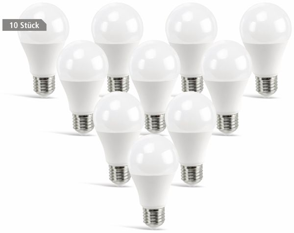 LED-Lampe DAYLITE A60-E27-806WW, E27, EEK: A+, 9 W, 806 lm, 3000 K, 10 St.