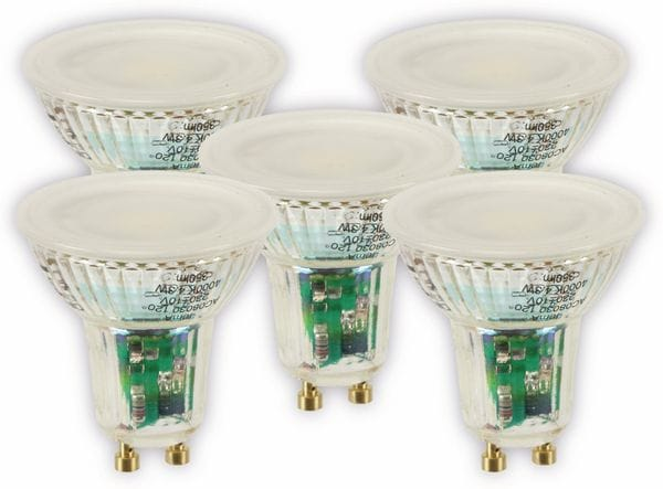 LED-Lampe OSRAM LED BASE PAR16, GU10, EEK A+, 4,3 W, 350 lm, 4000 K, 5 Stk. - Produktbild 1