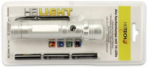 LED-Taschenlampe HEITECH 4002728, Aluminium, 14 LEDs - Produktbild 3