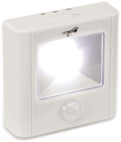 LED-Nachtlicht HEITECH 4003458 mit Bewegungsmelder, weiß, batteriebetrieb