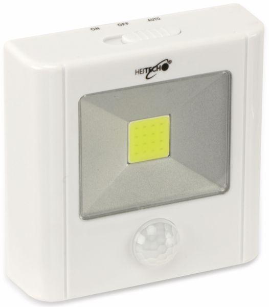 LED-Nachtlicht HEITECH 4003458 mit Bewegungsmelder, weiß, batteriebetrieb - Produktbild 2