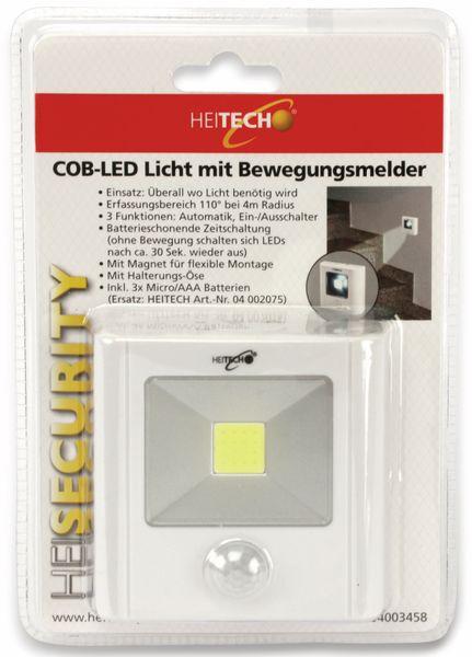 LED-Nachtlicht HEITECH 4003458 mit Bewegungsmelder, weiß, batteriebetrieb - Produktbild 3