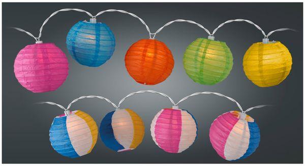 Sommerlichterkette, 10 Lampions, verschiedene Ausführungen