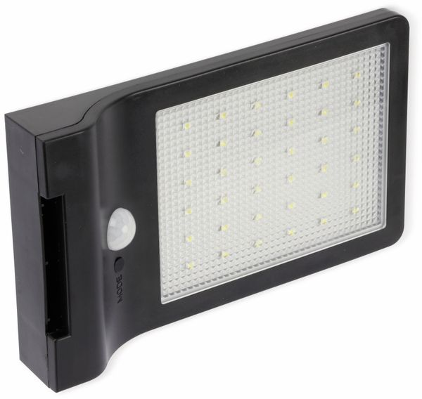 LED Solar-Außenleuchte DAYLITE WTT-1012, 36 LEDs, PIR, schwarz - Produktbild 3