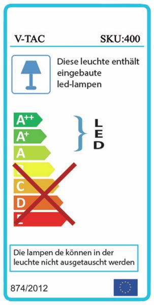 LED-Flutlichtstrahler V-TAC VT-30 (400), EEK: A, 30 W, 2400 lm, 3000K - Produktbild 2