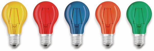 LED Lampen Set OSRAM BASE DECOR , E27, EEK: A, 2,5 W, 136 lm, farbig 5-teilig