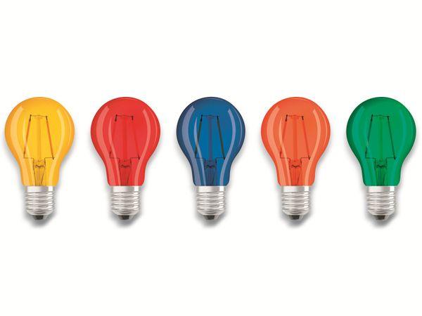 LED Lampen Set OSRAM BASE DECOR , E27, EEK: A, 2 W, 136 lm, farbig 5-teilig