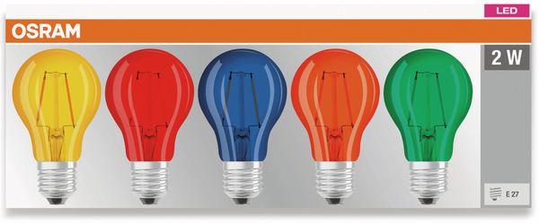 LED Lampen Set OSRAM BASE DECOR , E27, EEK: A, 2,5 W, 136 lm, farbig 5-teilig - Produktbild 2