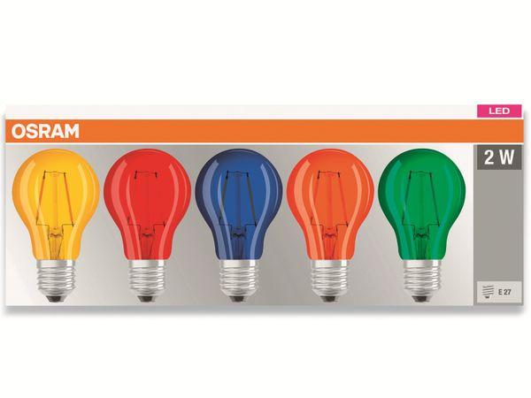 LED Lampen Set OSRAM BASE DECOR , E27, EEK: A, 2 W, 136 lm, farbig 5-teilig - Produktbild 2