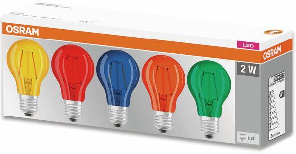 LED Lampen Set OSRAM BASE DECOR , E27, EEK: A, 2,5 W, 136 lm, farbig 5-teilig - Produktbild 3