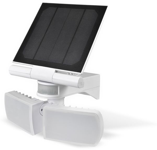 Solar LED-Außenleuchte mit Bewegungsmelder, 20 W, 600 lm, 6000 K, weiß - Produktbild 1