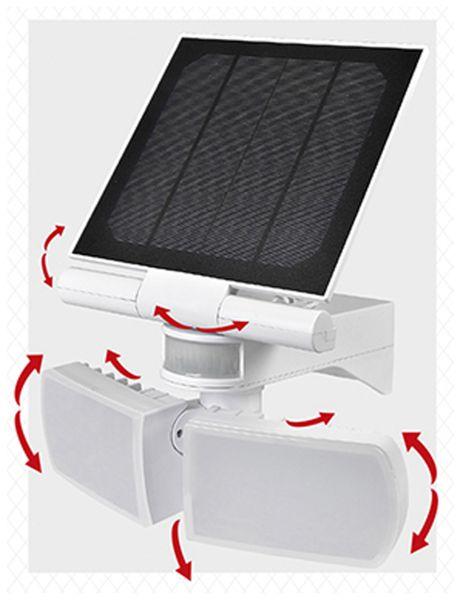 Solar LED-Außenleuchte mit Bewegungsmelder, 20 W, 600 lm, 6000 K, weiß - Produktbild 2