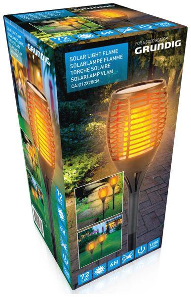 Solar-Gartenfackel GRUNDIG, 770 mm - Produktbild 3