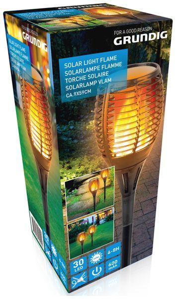 Solar-Gartenfackel GRUNDIG, 590 mm - Produktbild 2