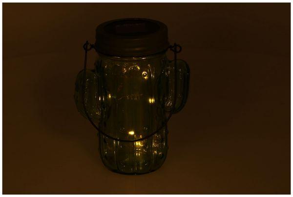 Solar Dekoglas Kaktus mit 5LEDs, 14 cm, grün - Produktbild 3