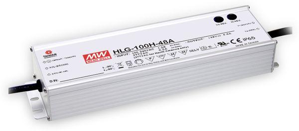 LED-Schaltnetzteil MEANWELL HLG-100H-20A, 22 V-/4,8 A