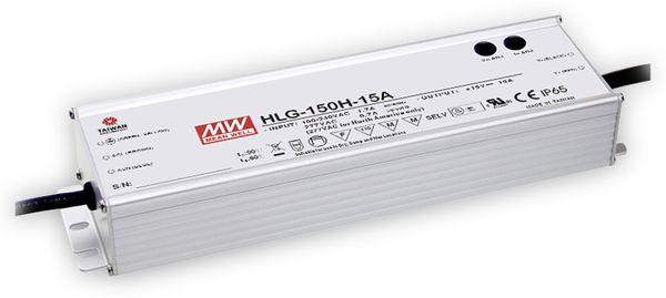 LED-Schaltnetzteil MEANWELL HLG-150H-15A, 15 V-/10 A