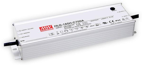 LED-Netzteil MEANWELL HLG-185H-C700A, 143...286V-/700mA