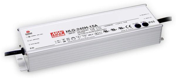 LED-Netzteil MEANWELL HLG-240H-24, 24V-/10A