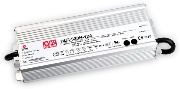 LED-Netzteil MEANWELL HLG-320H-12A, 12V-/22A